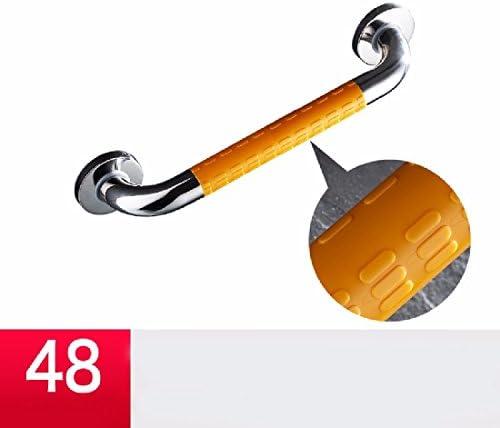 浴室用手すり 304ステンレスの手すりのトイレの老人の障害者の滑り止めの浴槽のラケット,白,58 cm