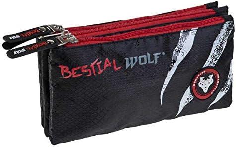 Busquets Estuche Escolar Triple Bestial Wolf: Amazon.es: Juguetes y juegos