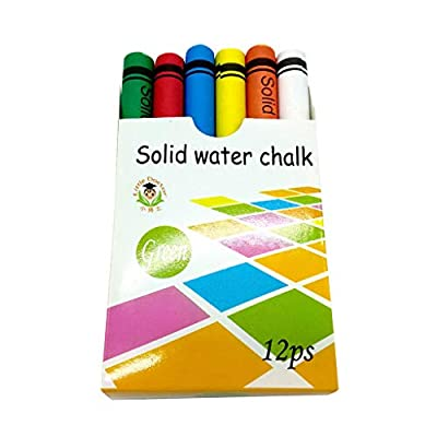Ellymi Children's Graffiti Colored Water-Based Chalk,Solid Water Soluble Chalk,Sidewalk Chalk Dust-Free Chalk,Dust-Free Chalk 12PCS: Toys & Games
