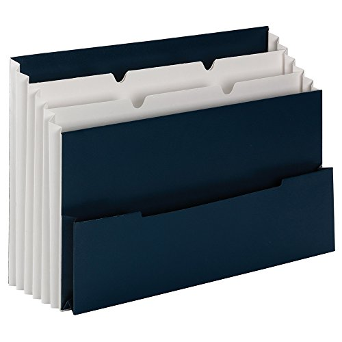 Smead Mini Stadium File, 3 Pockets, Small Front Pocket, Letter Size, Navy (70231) Stadium Display