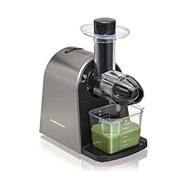 Hamilton Beach 67950A Slow Juicer with Masticating Action, Silver