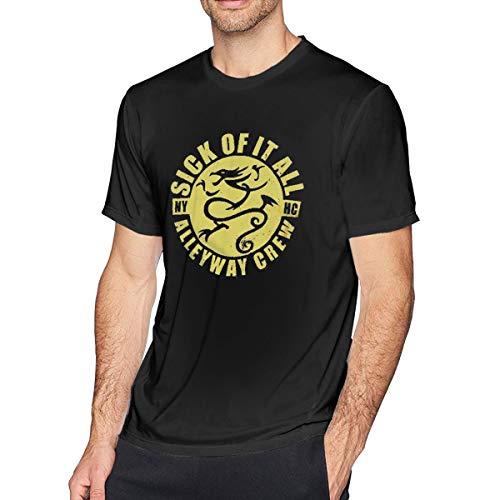 Sick Of It All Dragon - Pzenwts Sick of It All Dragon Popular Tee,Fashion Men's Personality Cool Soft T-Shirt Black