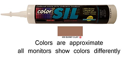 (Color Matched Silicone Caulk - Custom Building Products (57 Colors)(Burnt Clay))