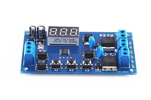 KNACRO Two-Way Solenoid Valve Pump Control Switch Module Dual mos Tube Module Cycle delay Timer Universal 12V / 24V -