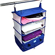 Stow-N-Go Portable Luggage System – Large, Packable Hanging Travel Shelves & Packing Cube Organizer