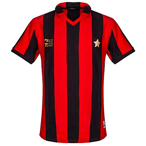 Cruyff Classics 1981 AC Milan Retro Jersey - Red/Black - XXL