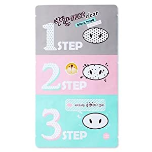 Holika Holika Pig Nose Clear Black Head 3-Step Kit, 5 Count