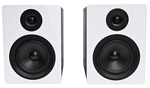 Rockville APM5W 5.25'' 2-Way 250 Watt Powered USB Studio Monitor Speakers in White (Pair) by Rockville