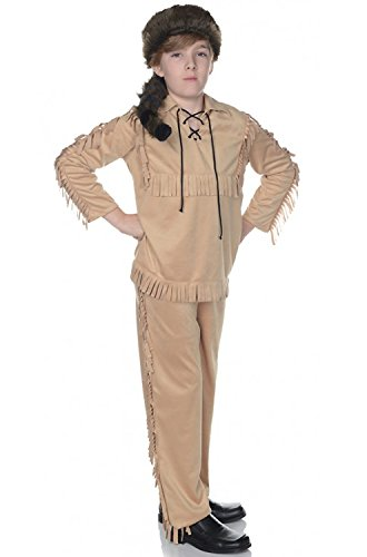 Children's Frontier Costume - Tan, Medium -
