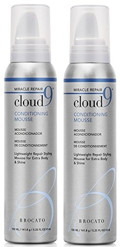 Aubrey Blue Hydrating Conditioner - Brocato Cloud 9 Conditioning Mousse, 5 oz (Set of 2)