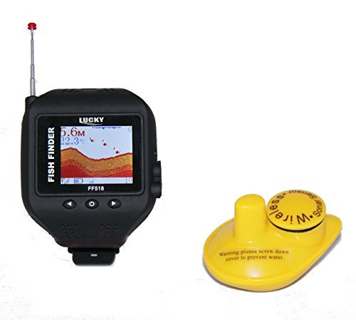 Digital Wireless Watch-type Fish Finder depth range max 135 feets with LED back Light. FF518 Fish Finders And Other Electronics VECTORCOM