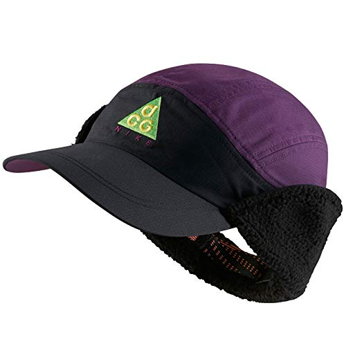 on sale 901ef aad35 Nike Sportswear Tailwind ACG Sherpa Adjustable Hat (Black Night Purple)