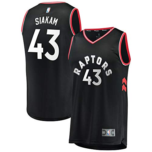 Colrlel Men's Toronto_Raptors_Pascal_Siakam_Black Fast Break Replica Player Jersey - Statement ()