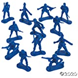 Big Bag of Blue Army Plastic Toy Soldiers (bulk set of 144 Army Men) Action Figures for Kids