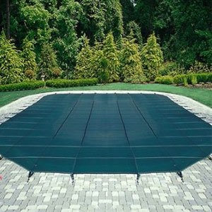 Arctic armor - Mesh Safety Pool Cover -Pool Size: 14' x 28' Blue Rectangle Arctic Armor Silver 12 Yr
