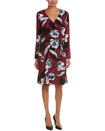 Alexia Admor Robe Des Femmes De Moyen Wrap-imprimé Floral Violet M