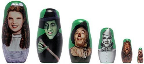 PPWToys Wizard of Oz Wood Nesting Doll Action Figure (6 Piece) by PPWToys (Image #3)