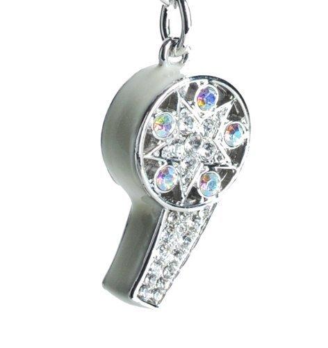 namel Whistle Key Bling Rhinestone Crystal Charm Pendant Purse Bag Key Ring Chain (Enamel Car Charm)