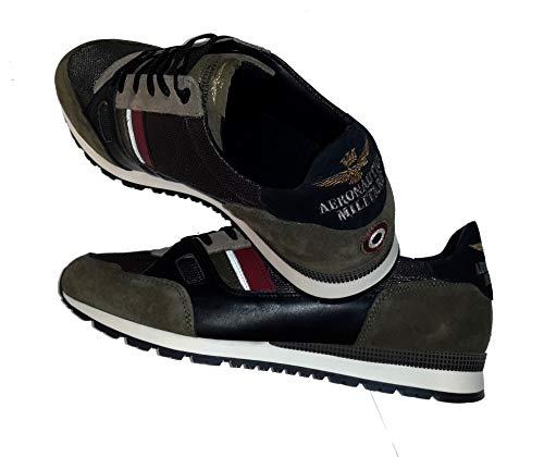 Nero Polo Chiaro Scuro Sneakers E Scarpe Aeronautica Uomo verde Maglione Militare Sc147ct Felpa 87Iwp