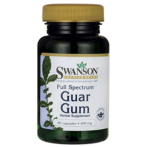 Swanson Full Spectrum Guar Gum 400 Milligrams 60 Capsules