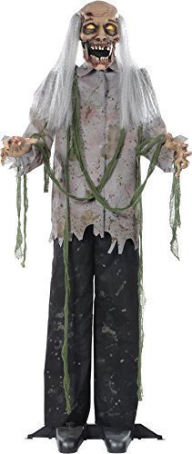 [Zombie 60 Inches Halloween Prop Hanging Scary Haunted House Yard Scary Decor] (Hanging Halloween Props)