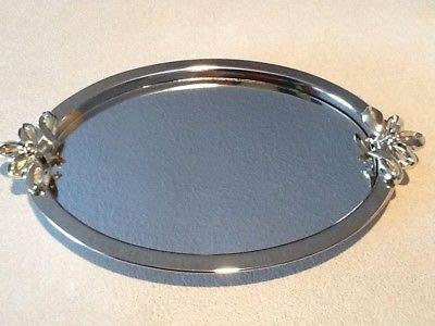 Vintage Avon Vanity Oval Dresser Tray, Oval Mirror Dresser/perfume Tray