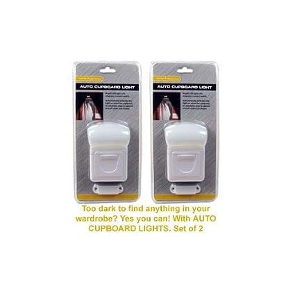 Oxyvita Ltd - Juego de luces automáticas para armario (sensor de movimiento, 2 unidades