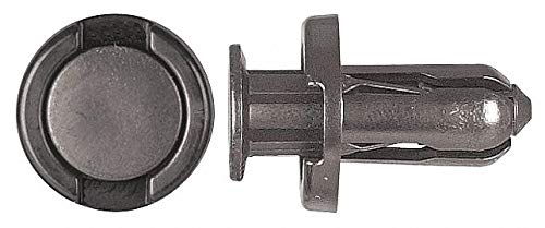 Expanding Push In Rivet, Nylon, 10mm Dia, 18mm L, 10mm, Black - pack of 5 by Unknown