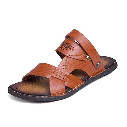 pelle Xujw 2018 41 Color Marrone da uomo da in da estive traspiranti Uomo antiscivolo trekking Sandali Dimensione vera sandali con EU Marrone shoes Scarpe arq5wa