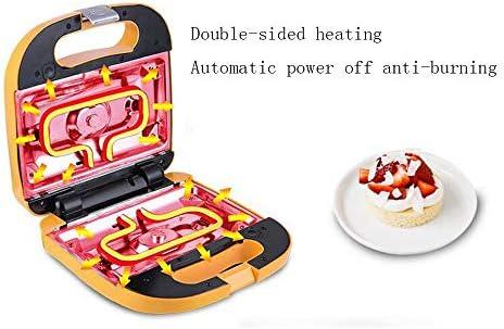 WY-Waffle Makers Gaufrier 650W - Design Compact en Acier Inoxydable avec plaques revêtues antiadhésives et contrôle Automatique de la température
