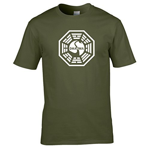 Vert Shirt Dharma Naughtees pour t Vtements Over The INIATIVE losties World Olive 1FgRw