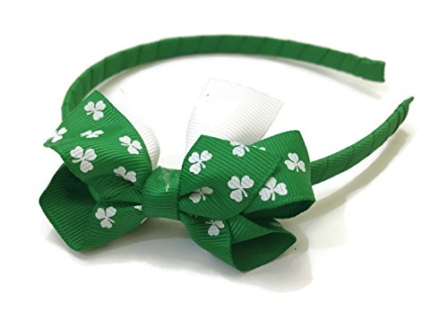 Irish Dancing Costumes For Girls (Rush Dance St Patrick's Day Shamrock Party Bow Accessories Headband Irish Pride)