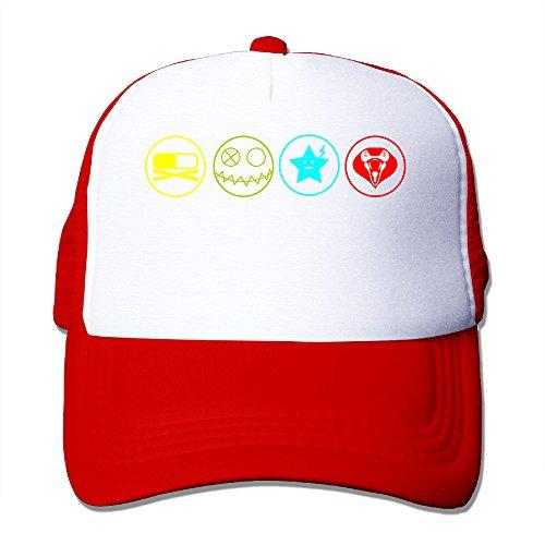 [ACMIRAN My Chemical Romance Adjustable Trucker Hat One Size Red] (Dwayne Johnson Baby Costume)