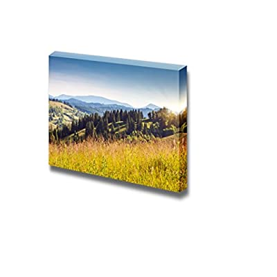 Canvas Prints Wall Art - Fantastic Yellow Hills with Summer Blue Sky in Carpathian, Ukraine - 24
