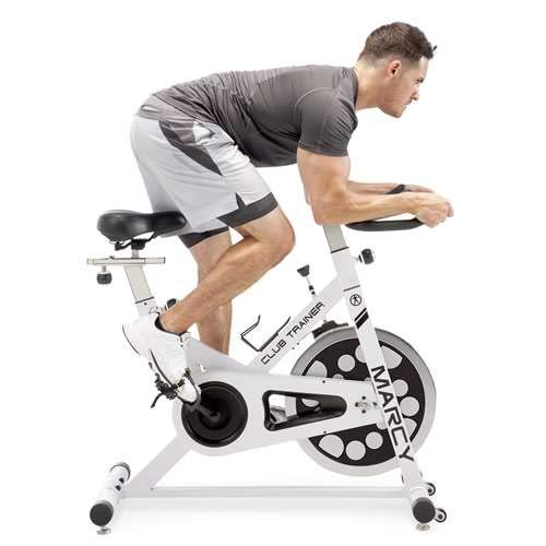 Marcy XJ-5801 Club Revolution Indoor Home Gym Exercise Bike Trainer, White/Black by Marcy (Image #6)