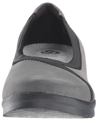 Clarks Womens Caddell Dash Wedge Pump Grigio Sintetico Nabuk