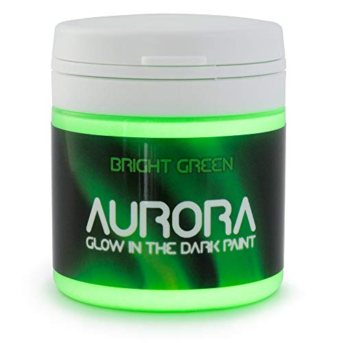 Glow in The Dark Paint, 1.7 fl oz (50ml), Aurora Bright Green, Non-Toxic, Water Based, by SpaceBeams ()