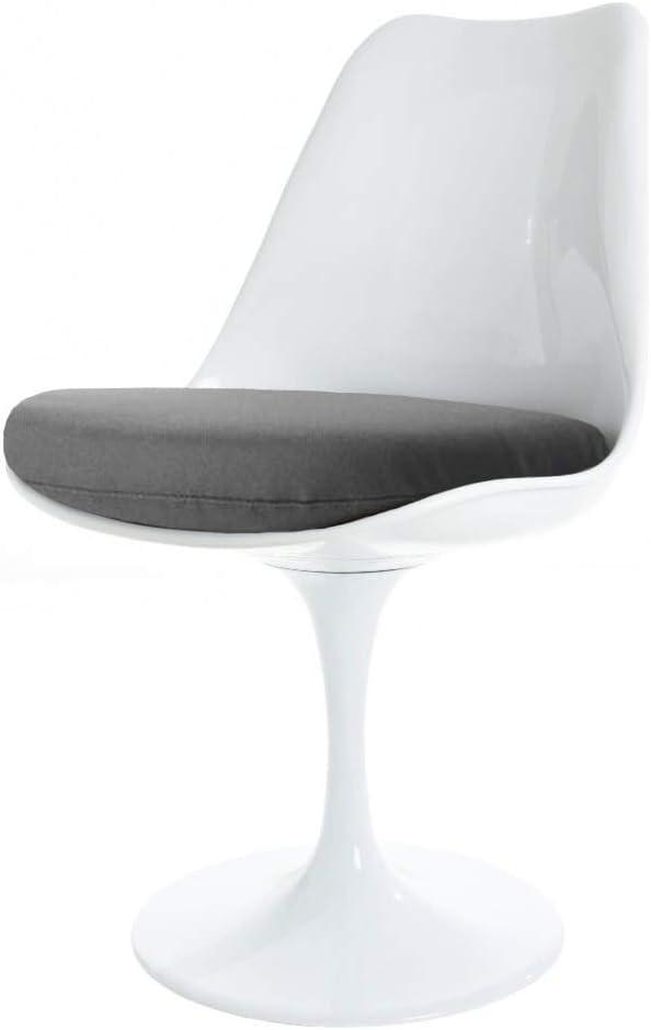 Eero Saarinen Blanc Et Gris Chaise Tulipe Style Amazon Fr Cuisine Maison