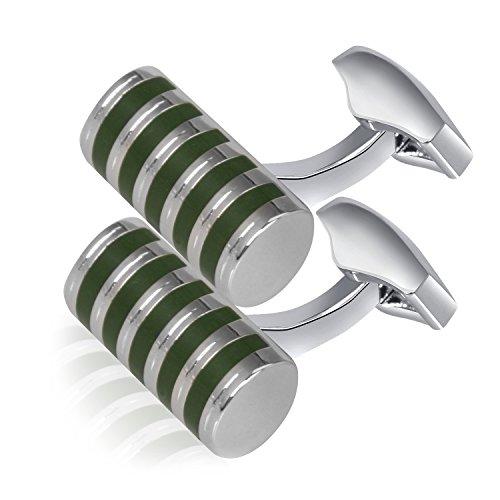 Gold Green Cufflinks - 6