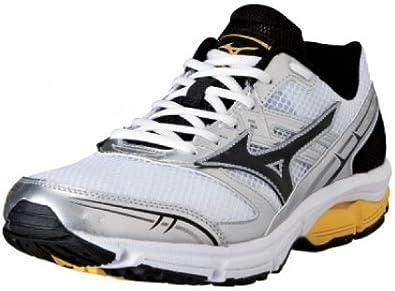 MIZUNO Wave Impetus Zapatilla de Running Caballero, Blanco/Negro/Amarillo, 39: Amazon.es: Zapatos y complementos