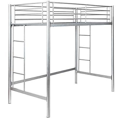 Safstar Twin Loft Bed Heavy Duty Metal Bunk Bed with Ladders Space Underneath for Boys Girls Teens Kids Bedroom Dorm