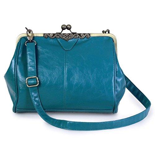 Bag Classic Blue Fashion Casual Brown Shoulder Retro Design Lake Yiuswoy Women 0Pv66x
