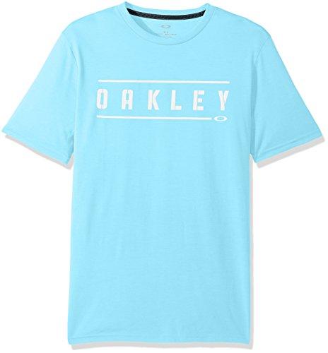 Oakley Men's O-Double Stack, Bright Cerulean, - Mens Oakley Shirts