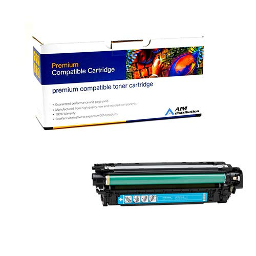 AIM Compatible Replacement for HP Color Laserjet CM3530/CP3525 Cyan Toner Cartridge (7000 Page Yield) (NO. 504A) (CE251A) - Generic