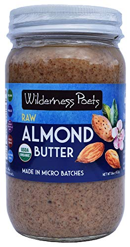 Wilderness Poets, Almond Butter - Organic Raw Nut Butter - (16 Ounce - 1 Pound) ()