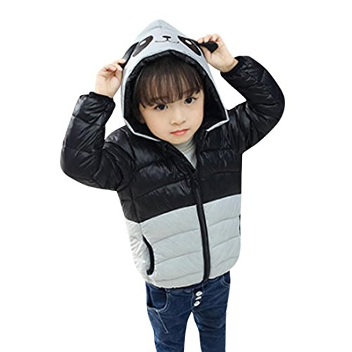 Fullfun 2-5T Child Panda Hooded Puff Down Jacket (2T, (Boys Puff Jacket)