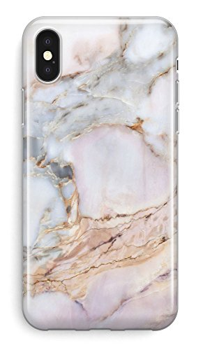 Recover Gemstone Marble iPhone X/XS Case. Soft Protective Silicone Cover for iPhone X/iPhone Xs. (Gemstone)