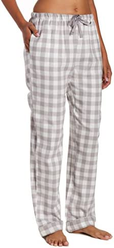 Cozy Pj Pants Women 100% Cotton Lightweight Super Soft Plaid Flannel Pajama Pants Buy Cotton Flannel Lounge Pants,Women Plaid Flannel Pajama