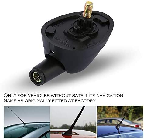 Black Antenna Base Aerial Base Genuine for Fiat MULTIPLA Marea DOBLO DUCATO for Vehicles Without Satellite Navigation