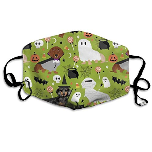 GHDfgFD Dachshund Halloween PM 2.5 Anti Pollution Mask Military Washable Dust Respirator Cotton Mouth Masks with ()